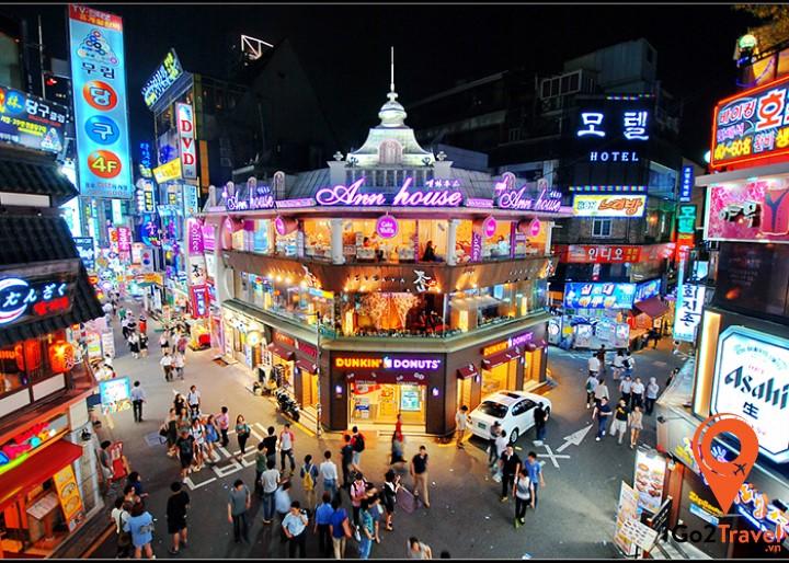 Hongdae sẽ là một địa điểm du lịch seoul