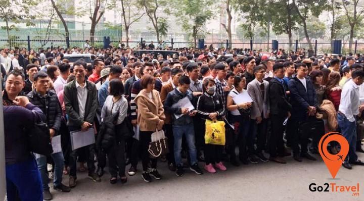 Lượng người xin visa Hàn Quốc