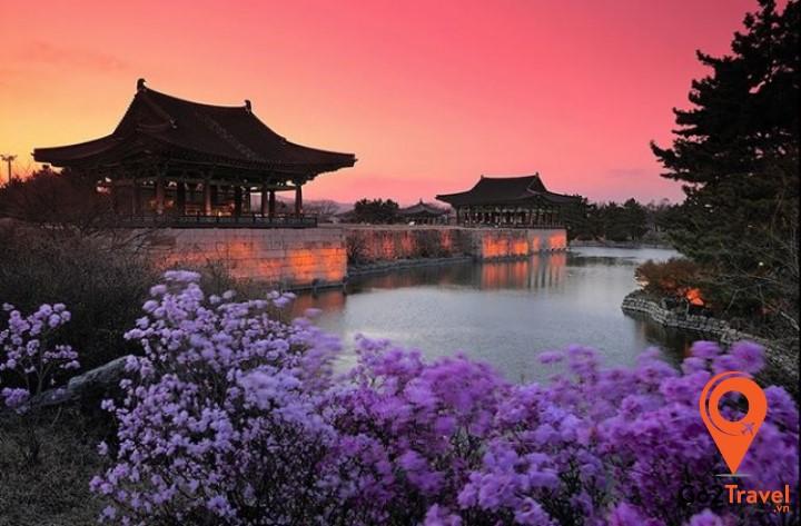 Hồ Anapji ( 안압지 ) ở Gyeongju, Gyeongsangbuk-do