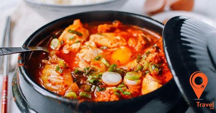 súp đậu phụ kho