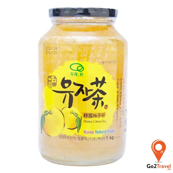 Trà thanh yên là loại đồ uống rất nổi tiếng tại Hàn Quốc