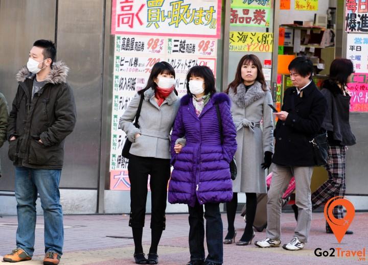 Người Nhật thường đeo khẩu trang khi ra ngoài