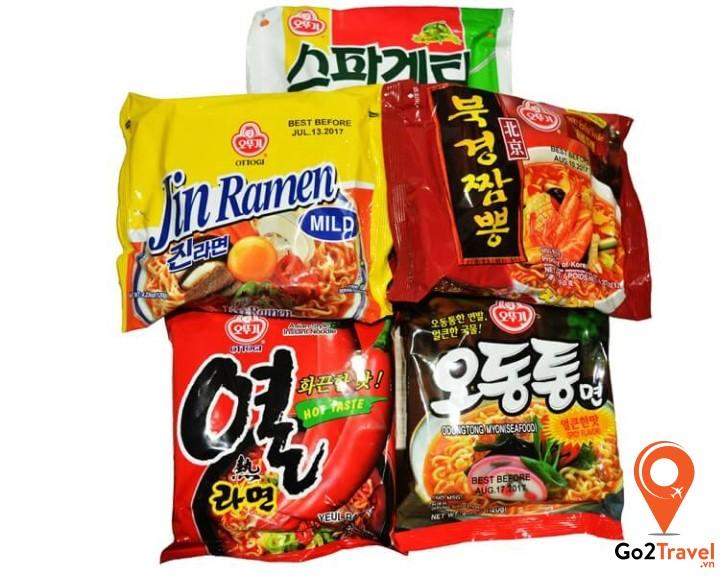 Các loại mỳ gói Hàn Quốc