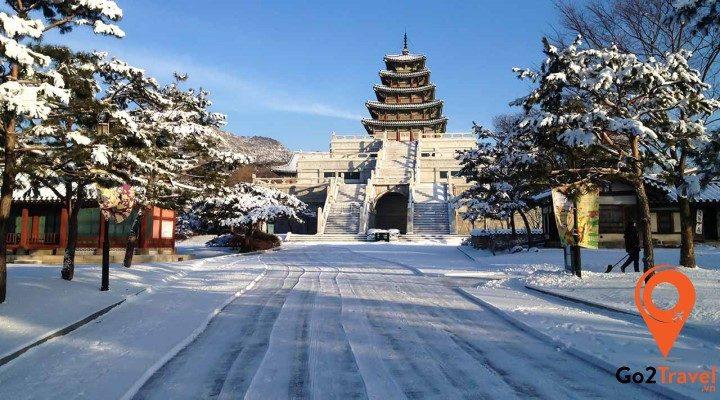 mùa đông Hàn Quốc phủ đầy tuyết trắng