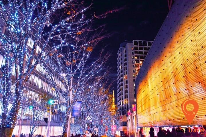 Một góc Tokyo vào mùa đông