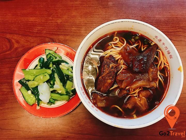 Đây là món mỳ bò ngon nổi tiếng Đài Loan