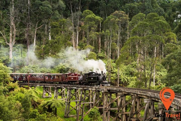 Puffing Billy là chuyến tàu hơi nước cổ nổi tiếng của Úc