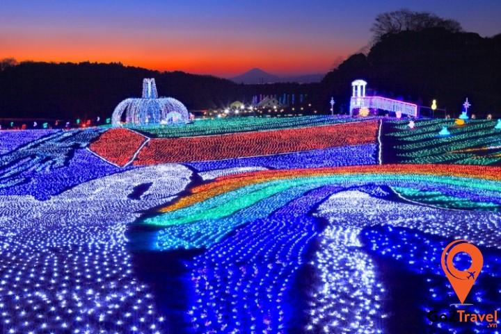 Lễ hội The Tokyo German Village Winter Illumination - là một trong những sự kiện ánh sáng lớn nhất vùng Kanto.