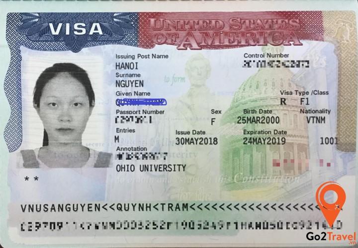 "Visa Mỹ diện ""F"""