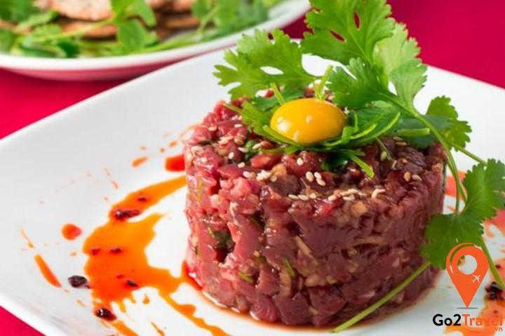 Tartare Steak là món thịt bò sống được nhiều người biết tới trên thế giới