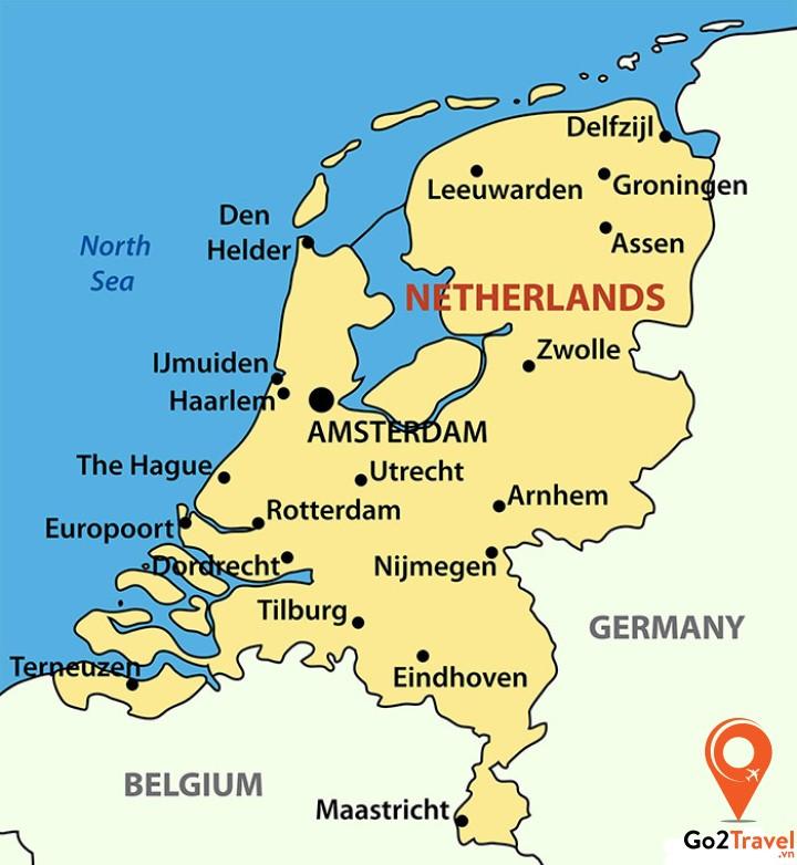 Vị trí địa lý đất nước Hà Lan