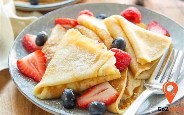 Bánh Crepe (bánh kếp) có xuất xứ từ vùng Bretagne, nước Pháp