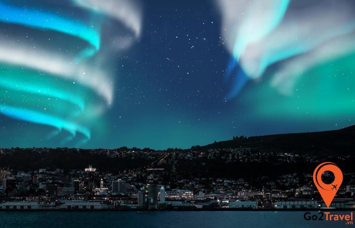 Alaska nằm trong vị trí trung tâm của cực quang