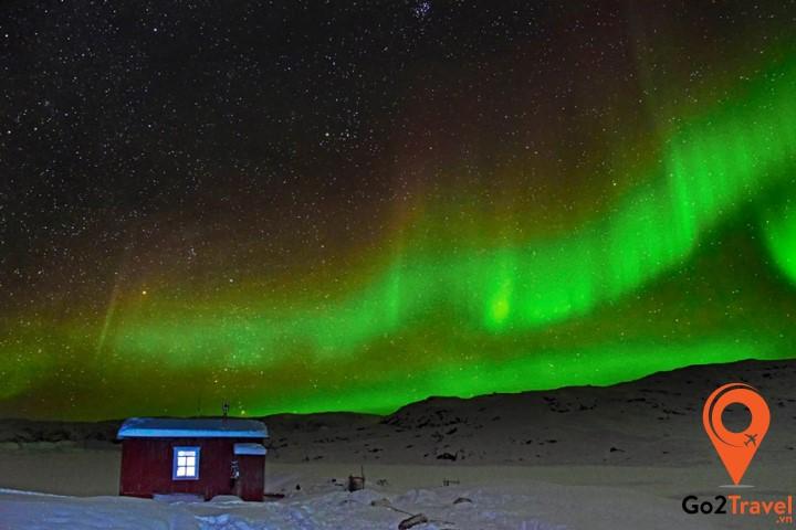 Greenland chính là nơi ngắm cực quang đẹp nhất