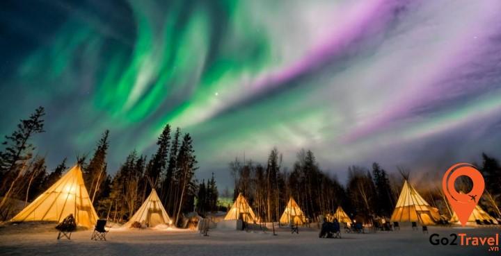 Ngôi làng Abisko là nơi bạn có thể ngắm cực quang ở Na Uy