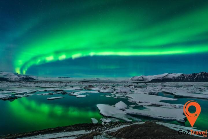Iceland có thể thấy vầng sáng xanh huyền ảo với tần suất cực kỳ thường xuyên
