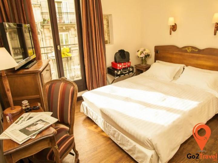 Phòng nghỉ của một khách sạn Châu Âu