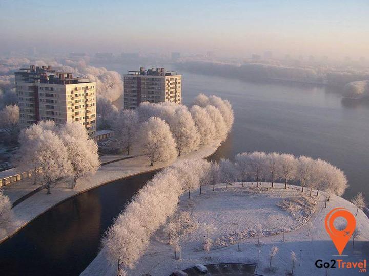 Mùa đông Hà Lan đẹp đến nao lòng