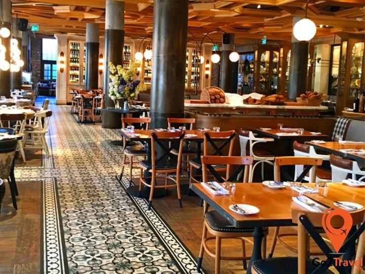 Không gian nhà hàng ở Châu Âu