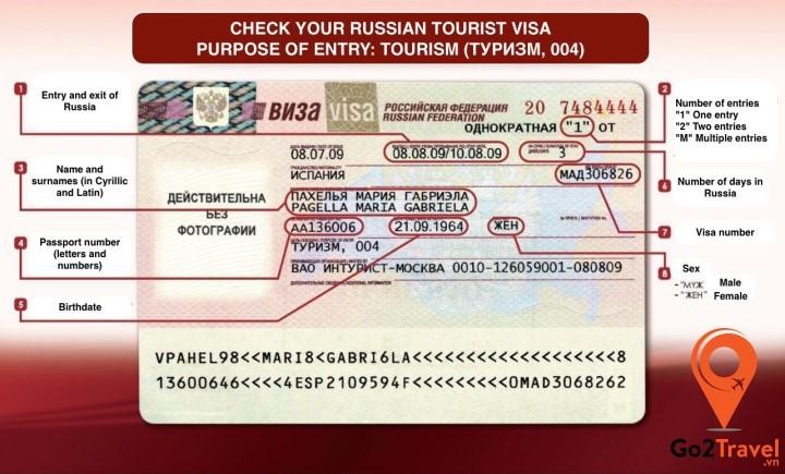 Xin visa Nga cũng cần những điều kiện nhất định