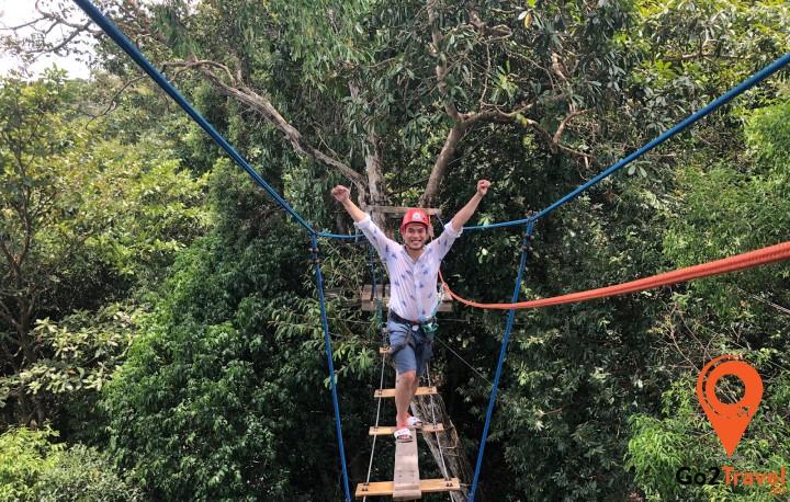 Zipline - trò chơi dành cho những người thích mạo hiểm