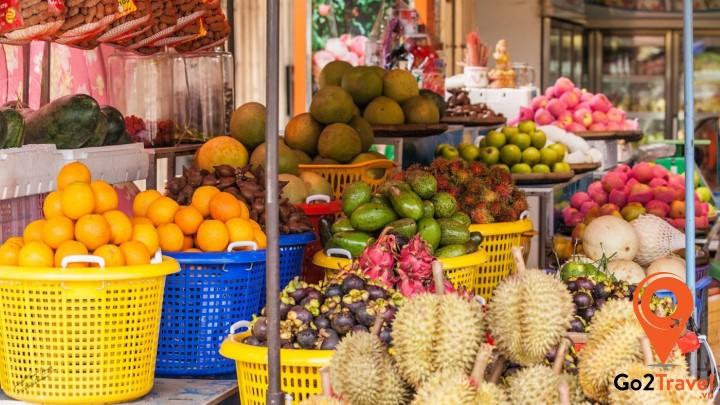 Trái cây ở Campuchia vô cùng phong phú