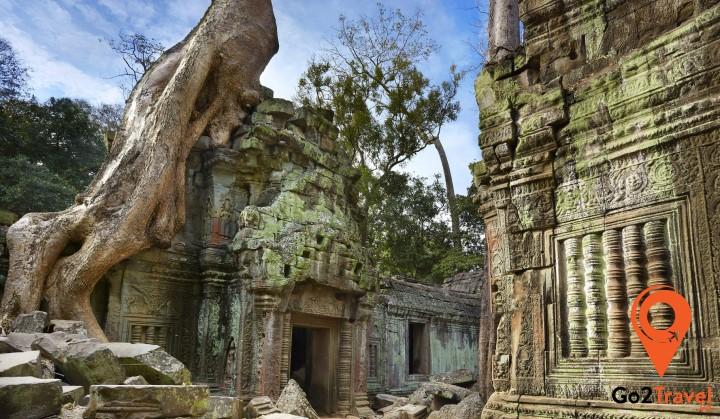 Đền Ta Prohm với rễ cây khổng lồ
