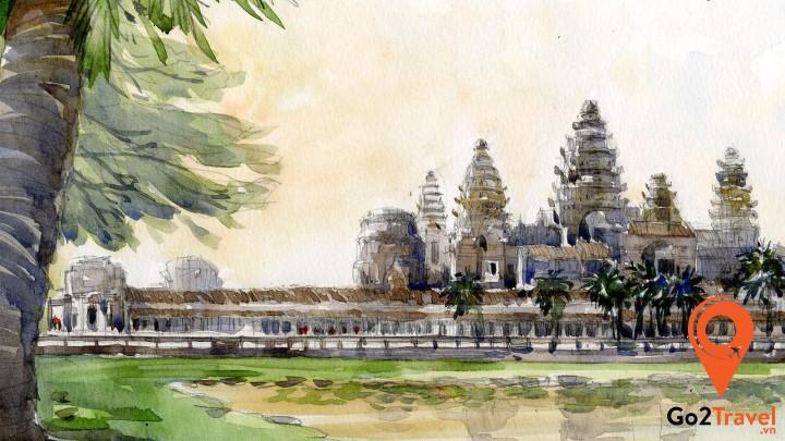 Tranh vẽ ở Angkor Wat
