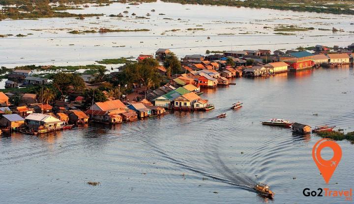 Hồ Tonlé Sap là hồ nước ngọt lớn nhất ở Đông Nam Á
