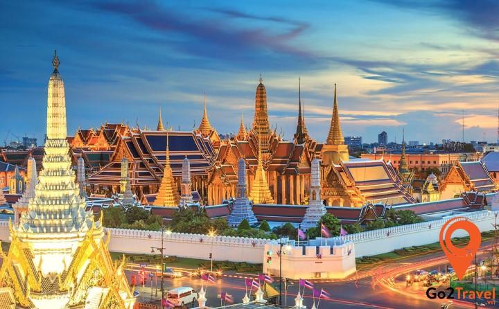 Đây là nơi tập trung những nét ưu tú nhất về kiến trúc chùa Phật ở Thái Lan