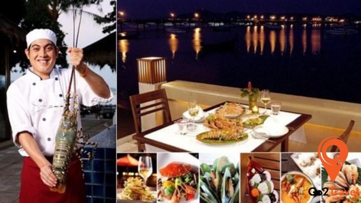 Nhà hàng với nhiều món hải sản tươi sống