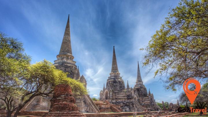 Khu đền thờ lớn nhất Ayutthaya