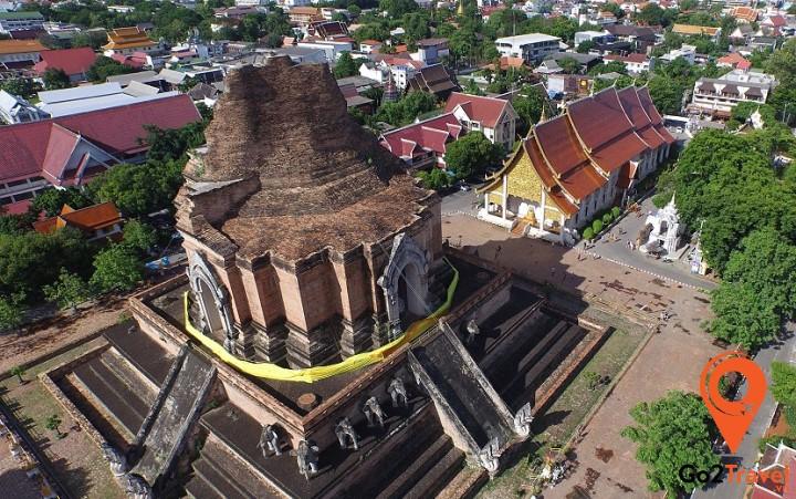 Chùa Chedi Luang cũng là nơi đặt cột trụ của thành phố Chiang Mai
