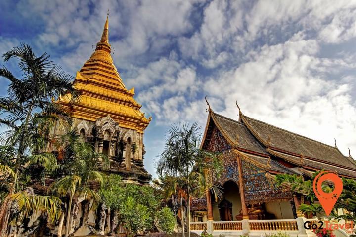 Wat Chiang Manlà ngôi đền cổ nhất ở thị trấnChiang Mai