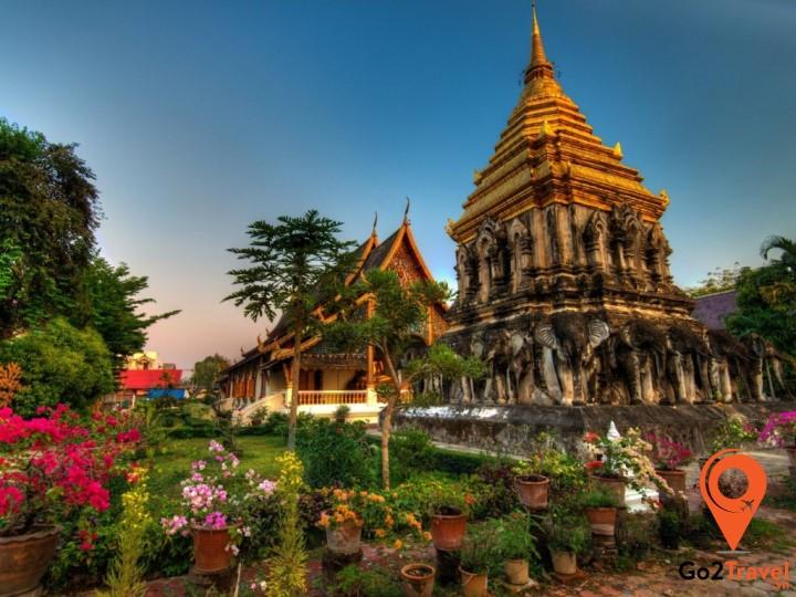 Toàn cảnh ngôi chùa Chiang Man
