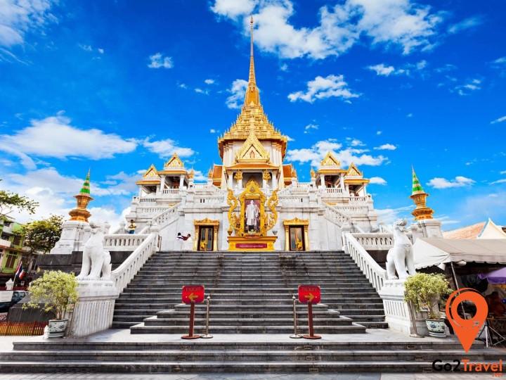Wat Traimit có tượng Phật lớn bằng vàng lớn nhất thế giới