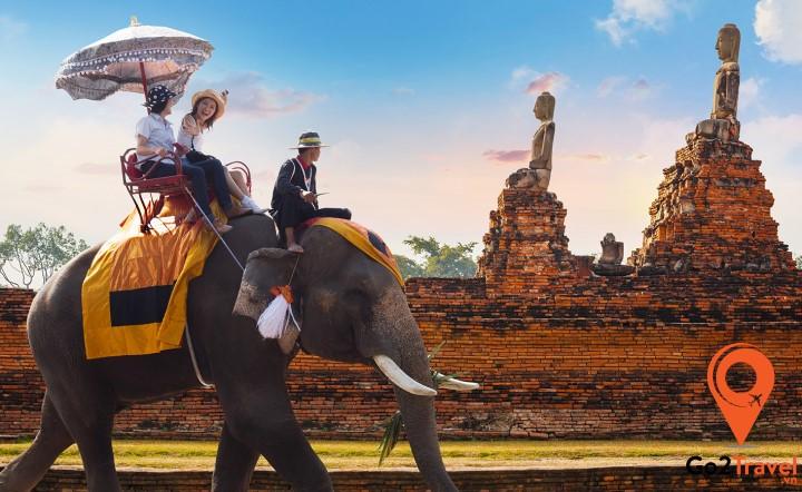 Cùng trải nghiệm cảm giác khi được du ngoạn trên lưng voi