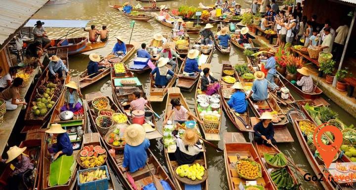 chợ nổi ở Ayutthaya