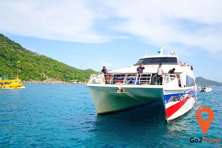 Di chuyển bằng phà đến đảo Koh Samui
